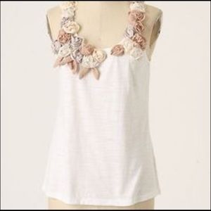 Anthropologie One September Tecolote floral tank